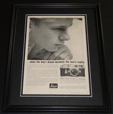 1959 Leica Camera 11x14 Framed ORIGINAL Vintage Advertisement Poster B