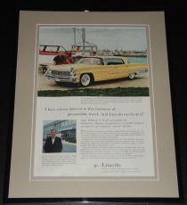 1959 Lincoln Landau 11x14 Framed ORIGINAL Vintage Advertisement Poster
