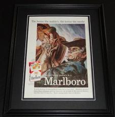 1959 Marlboro Cigarettes 11x14 Framed ORIGINAL Vintage Advertisement Poster