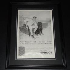 1959 Mayo Spruce Underwear 11x14 Framed ORIGINAL Vintage Advertisement Poster
