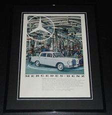 1959 Mercedes Benz 11x14 Framed ORIGINAL Vintage Advertisement Poster B