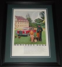 1959 Mercedes Benz 220 11x14 Framed ORIGINAL Vintage Advertisement Poster