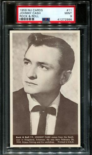 1959 Nu Cards Rock & Roll #11 Johnny Cash Pop 8 Centered Psa 9 N2615970-986