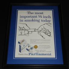 1959 Parliament Cigarettes 11x14 Framed ORIGINAL Vintage Advertisement Poster B