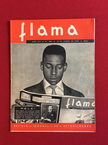 "1959, PELE, ""FLAMA"" Magazine (Rare)"