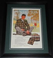1959 Pendleton Sportswear 11x14 Framed ORIGINAL Vintage Advertisement Poster