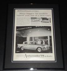 1959 Rambler Ambassador V-8 11x14 Framed ORIGINAL Vintage Advertisement Poster E