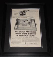 1959 RCA Victor Tape Recorder 11x14 Framed ORIGINAL Vintage Advertisement Poster