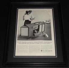 1959 RCA Victor TV 11x14 Framed ORIGINAL Vintage Advertisement Poster B