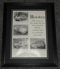 1959 Rootes 11x14 Framed ORIGINAL Vintage Advertisement Poster