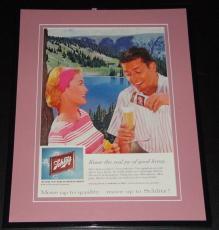 1959 Schlitz 11x14 Framed ORIGINAL Vintage Advertisement Poster
