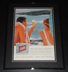 1959 Schlitz Good Living 11x14 Framed ORIGINAL Vintage Advertisement Poster