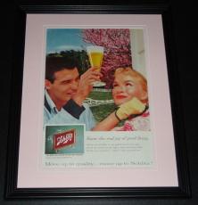 1959 Schlitz Good Living 11x14 Framed ORIGINAL Vintage Advertisement Poster D