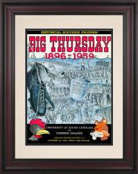 1959 South Carolina Gamecocks vs Clemson Tigers 10 1/2 x 14 Framed Historic Football Poster
