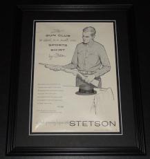 1959 Stetson Sports Shirt 11x14 Framed ORIGINAL Vintage Advertisement Poster