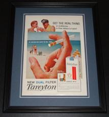 1959 Tareyton Cigarettes 11x14 Framed ORIGINAL Vintage Advertisement Poster
