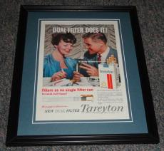 1959 Tareyton Cigarettes 11x14 Framed ORIGINAL Vintage Advertisement Poster B