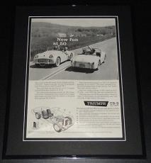 1959 Triumph TR-3 Fun at 50 11x14 Framed ORIGINAL Vintage Advertisement Poster