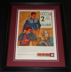 1959 Van Heusen Coloray 11x14 Framed ORIGINAL Vintage Advertisement Poster