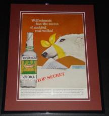 1959 Wolfschmidt Vodka 11x14 Framed ORIGINAL Vintage Advertisement Poster