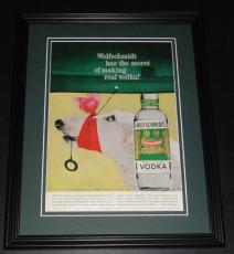1959 Wolfschmidt Vodka 11x14 Framed ORIGINAL Vintage Advertisement Poster B