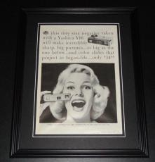 1959 Yashica Y16 11x14 Framed ORIGINAL Vintage Advertisement Poster