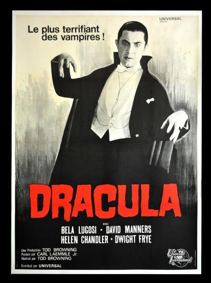 1966 Dracula Movie Poster Original 1931 Bela Lugosi 48×72