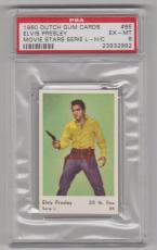 1960 Dutch Gum Card Elvis Presley Movie Stars Serie L-h/c Card #85 Psa 6 Ex-mt