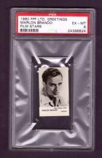 1960 F.P.F. Ltd. Greetings MARLON BRANDO PSA EX-MT 6 Film Stars