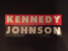 "1960 John F. Kennedy ""Un-Used"" Window Decal"