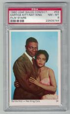 1960 Leaf Film Stars Nat King Cole & Eartha Kitt Card #59 Psa 8 Nm-mt & Centered