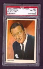1960 Leaf Sales Confect. JOHN WAYNE #61 PSA EX-MT 6 Film Stars