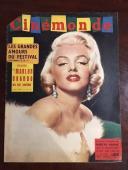 """1960, Marilyn Monroe, """"Cinemonde"""" Oversize Magazine (Scarce)"""