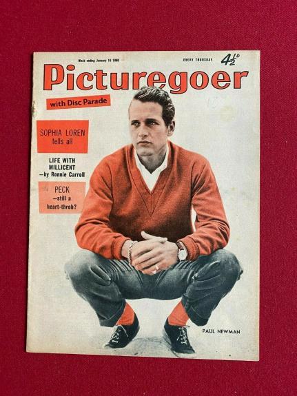 "1960, Paul Newman ""Picturegoer"" Magazine (Scarce / Vintage)"