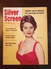 """1960, Sophia Loren, """"Silver Screen"""" Magazine (No Label)"""