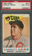 1960 Topps 217 CHARLEY GRIMM PSA 8 40536481