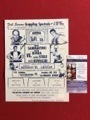 "1960's, Bruno Sammartino / George Steele, ""Autographed"" (JSA) Wrestling Flyer"