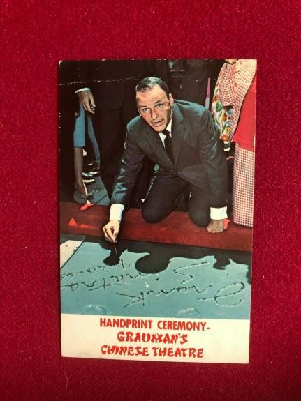 "1960's, Frank Sinatra, ""Un-Used""  Grauman's Post Card (Scarce / Vintage)"