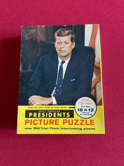 1960's, John F. Kennedy, 16x20 Puzzle w/ Original Box (Scarce / Vintage)