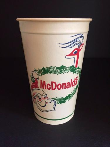 """1960's McDonald's, """"Un-Used"""" Christmas Large Paper Cup"""