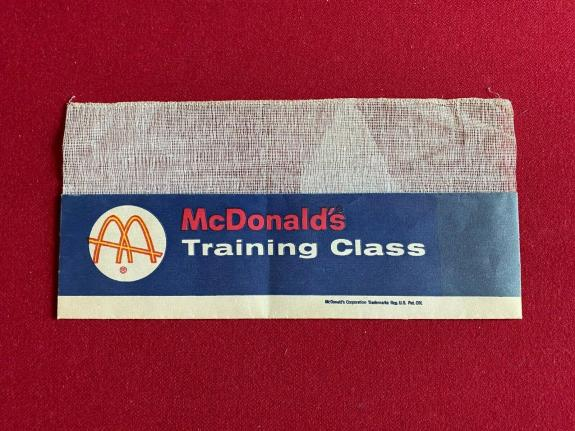 "1960's, McDonald's, ""Un-Used"" Employee (TRAINEE) Paper Hat (Scarce) Slash Logo"