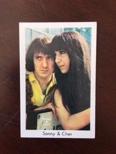"1960's, Sonny & Cher ""Swedish Candy Card"" (Scarce)"