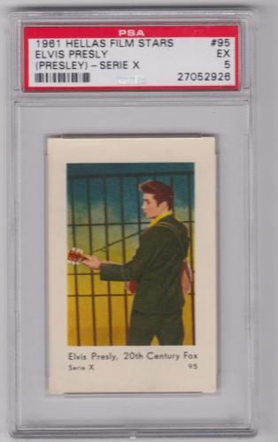 1961 Hellas Film Stars Elvis Presley Jailhouse Rock Card #95 Psa 5 Ex Centered