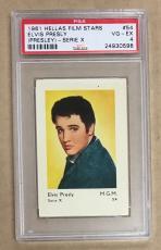 1961 Hellas Film Stars Elvis Presley Series X Card #54 Psa 4 Vg-ex Undergraded!