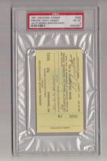 1961 John F. Kennedy JFK Inaugural Parade Inauguration Ticket/Pass PSA 20942357