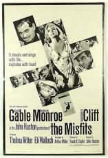 "1961 Marilyn Monroe/Clark Gable Orig. ""The Misfits"" Movie Poster, 28"" x 42"
