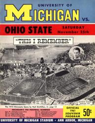 1961 Michigan Wolverines vs Ohio State Buckeyes 22x30 Canvas Historic Football Poster