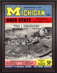 1961 Michigan Wolverines vs Ohio State Buckeyes 36x48 Framed Canvas Historic Football Poster