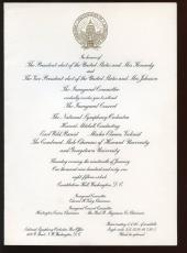 1961 President Kennedy Inaugural Concert Invitation & Activities Schedule