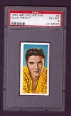 1962 ABC Colorstars ELVIS PRESLEY #4 PSA EX-MT 6
